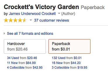 Amazon Crocket listing