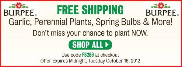Burpee Free Shipping