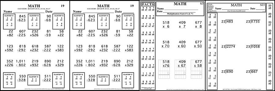 Fact Controlled Math