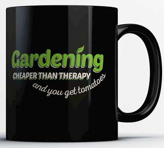 Gardening - Cheaper Than Therapy Mug