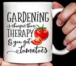 Gardening...cheaper than therapy...and you get tomatoes