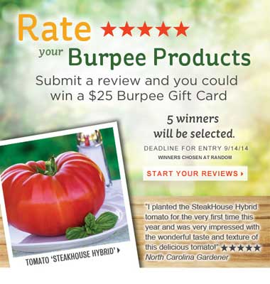 Rate Burpee Products