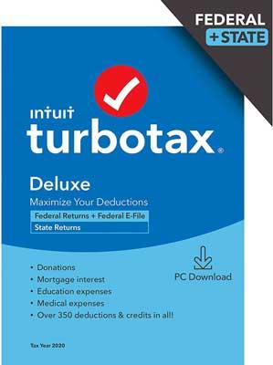 TurboTax Deluxe 2020