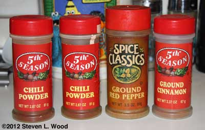 Red spice jars