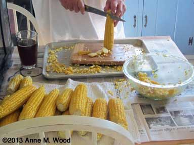 Cutting corn