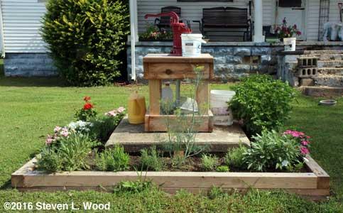Our new herb garden