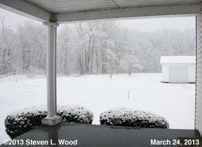 Snow on March 24, 2013