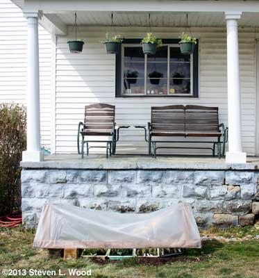 Porch and cold frame