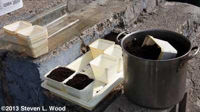 Filling pots