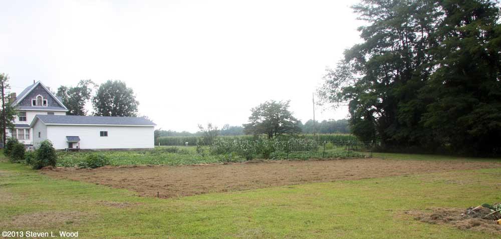 East Garden tilled