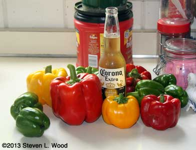 Bell peppers and beer