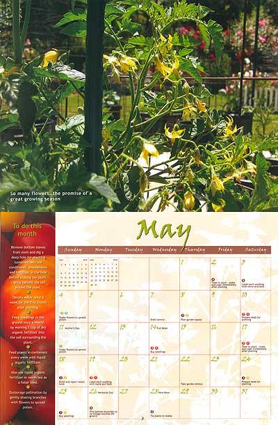 Laura Taylor May Tomato Calendar