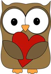Brown Owl Hugging a Heart