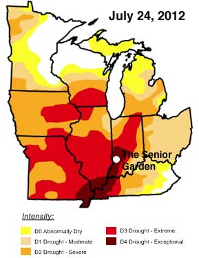 July midwest drought
