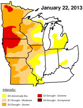 January drought report
