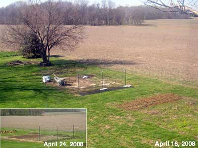 Plot B before and after terracing