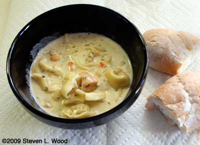 Asiago Cheese & Tortellini Soup