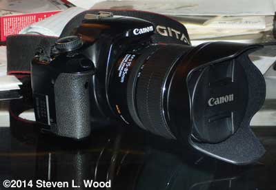 Canon XSi with 15-85mm zoom lens