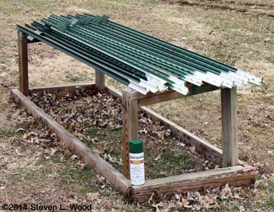 T-posts on old cold frame