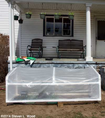 Cold frame propped open