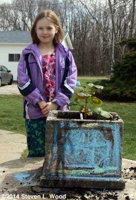 Katherine and geranium