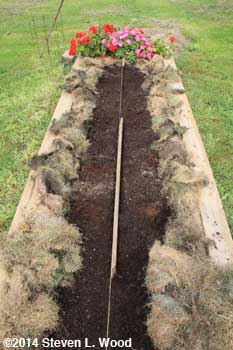 "Making planting row with 1"" board"