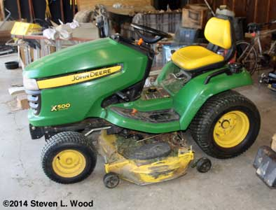 Mower with deck mounted