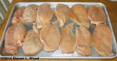 Freezing chicken breasts