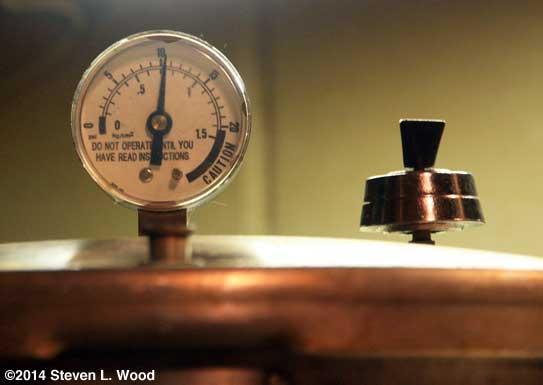 Watching the pressure gauge