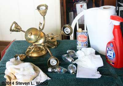 Polishing chandelier
