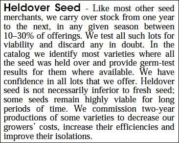Heldover Seed Notice