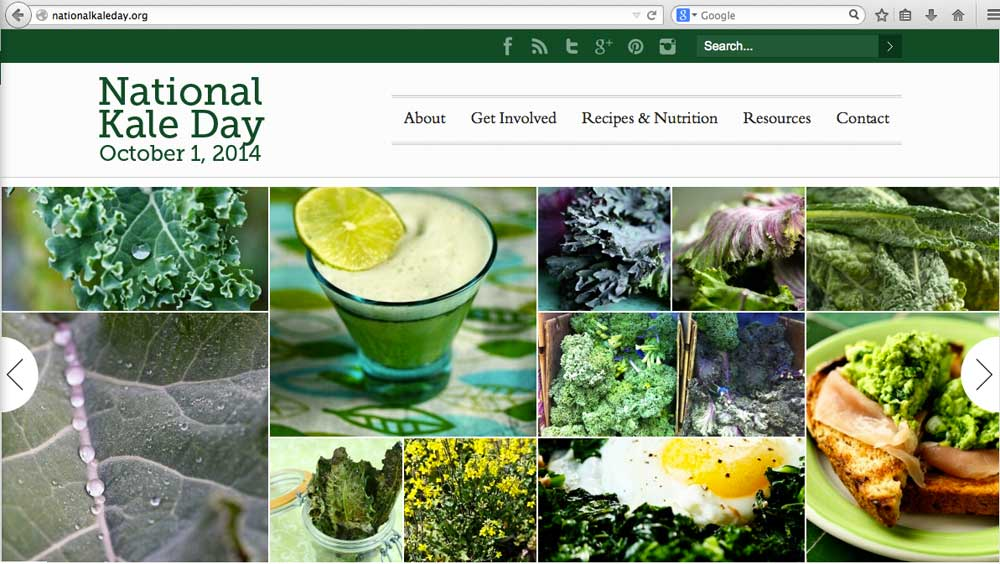 National Kale Day site