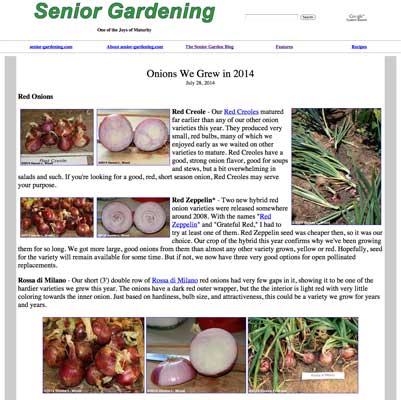 Onion Trials - 2014