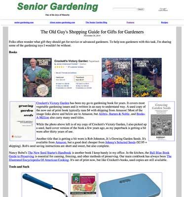 The Old Guy's Garden Blog