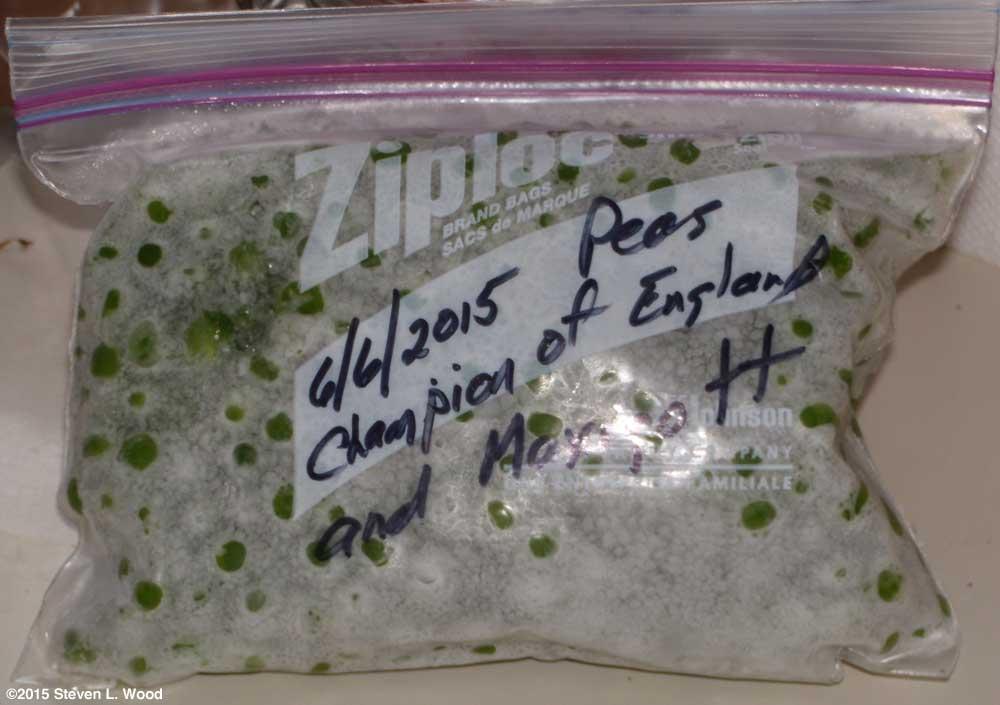 Peas for the freezer