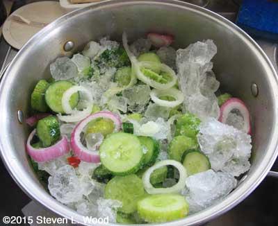 Cucumbers brining