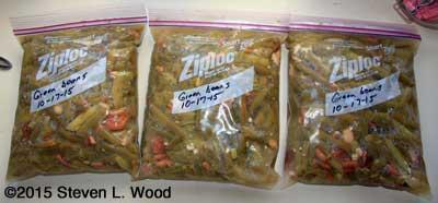 3 Quarts frozen green beans