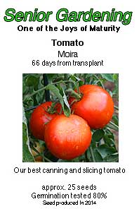 Moira tomato seed packet