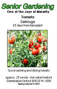Earlirouge tomato seed packet
