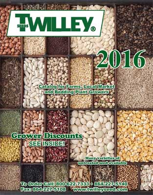 Twilley Seeds 2016 Catalog Cover