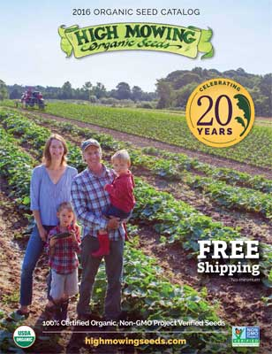 2016 High Mowing Organic Seeds Catalog Cover