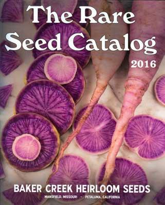 Baker Creek Heirloom Seeds catalog cover 2016