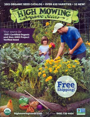 High Moving Organic Seeds catalog cover
