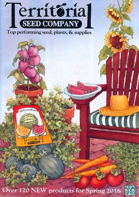 Territorial Seed Company 2016 Catalog Cover