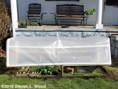 Full view of cold frame
