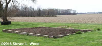 Main Raised Bed Tilled on March 30