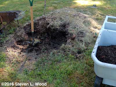 Attempting to screen compost