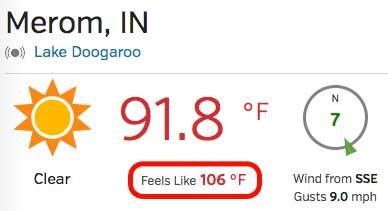 Heat index 106
