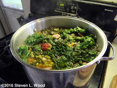 Kale Soup in progress