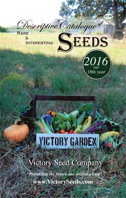 Victory Seeds 2016 Catalog Cover